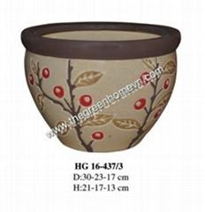Ceramic indoor and outdoor pot