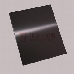 Supply 304 Stainless Steel Black Titanium non fingerprint wire drawing board