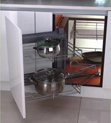 Soft stop Repon slide kitchen cabinet magic corner unit wire basket