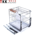 SS Iron soft stop slide pull out multi purpose drawer wire basket