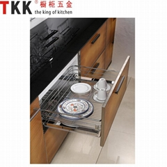 DTC Slide kitchen cabinet pull out drawer basket