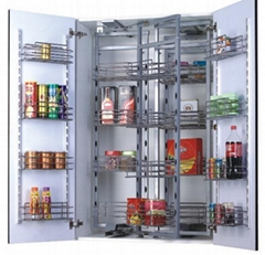 Kitchen cabinet pull out pantry unit with sfot close
