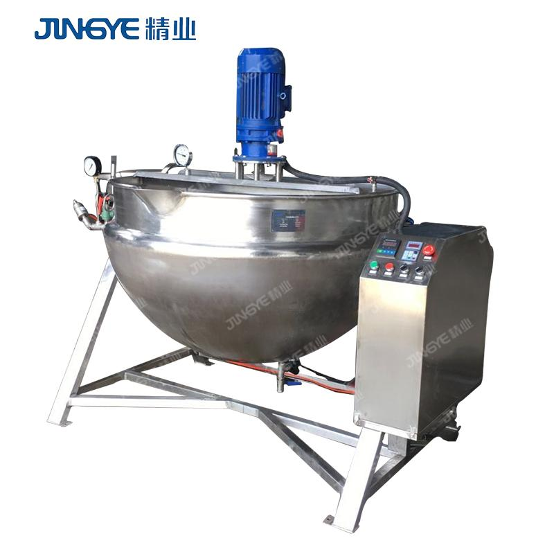 pepper paste 2019 Hot Sale 60 Gallon direct Steam Jacketed Kettle Mixer Machine 2