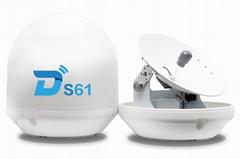 Ditel S61 63cm 3-axis ku band digital outdoor tv marine satellite antenna