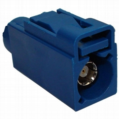 blue color fakra-c plug for coaxial cable