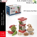 Stainless Steel Chili Cutter With Lid 1