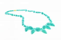 Custom design fashion soft baby silicone teething necklace accessories