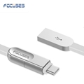 FOCUSES Premium 3.28ft New Design Micro USB and Type C Two in One USB Data Cable