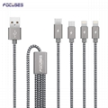 FOCUSES New Creative 4 in 1 USB Data Cable Adapter Universal for Cell Phones