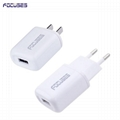 Focuses CE Certified 5V 1A Single USB Wall Mount Charger For All Smart Phones