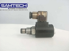 山东森特克液压插装常开螺纹电磁球阀SV08-2NOP