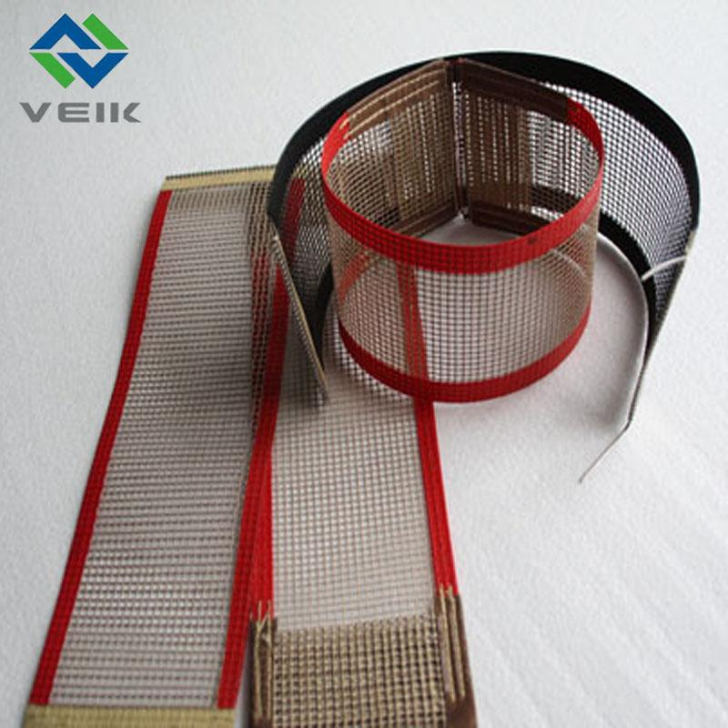 Teflon fiberglass open mesh conveyor belt 1