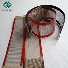Teflon fiberglass open mesh conveyor belt