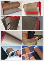 Teflon fiberglass open mesh conveyor belt
