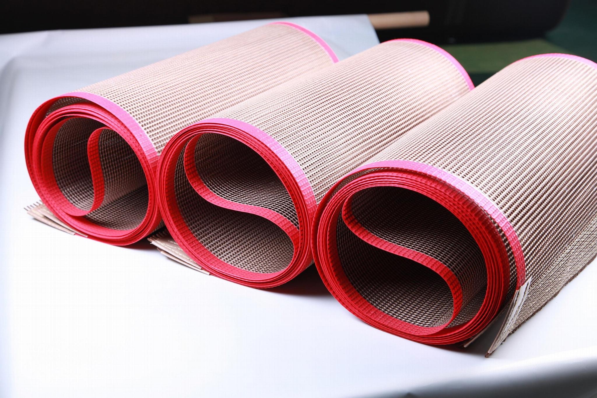 PTFE heat press sheet fiberglass open mesh conveyor belt 1