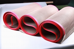 PTFE heat press sheet fiberglass open mesh conveyor belt