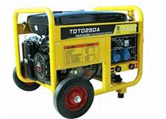 热卖250A汽油发电电焊机