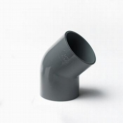 Professional Manufacture UPVC Pipe Fitting 45 Elbow for Water Supply