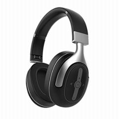 ANC noise cancelling bluetooth headphone F6Plus HD SOUND with LEATHER HEAD WEAR