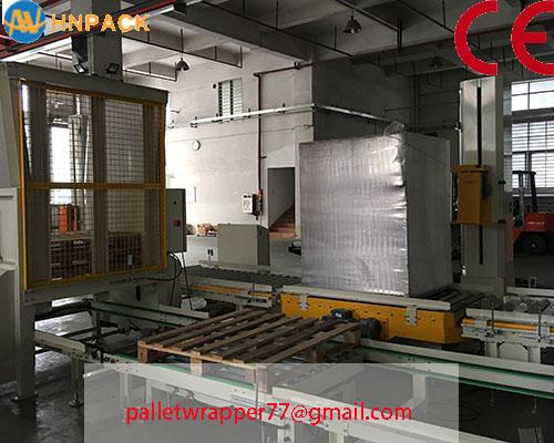 ifully automatic pallet turntable stretch wrap machine for film wrapping 1