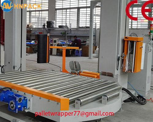 ifully automatic pallet turntable stretch wrap machine for film wrapping 2