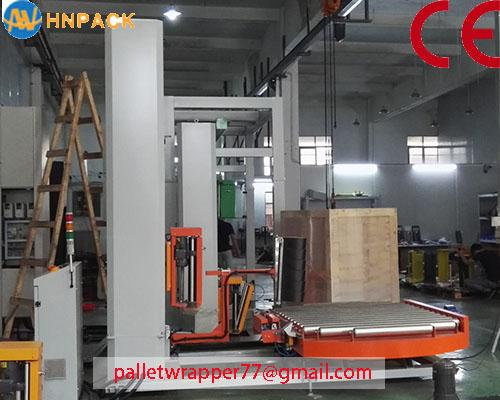ifully automatic pallet turntable stretch wrap machine for film wrapping 3