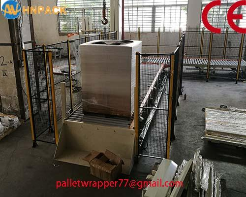 ifully automatic pallet turntable stretch wrap machine for film wrapping 5