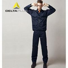 代尔塔全棉防静电工作服405168 透气劳保套装