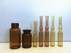 1-30ml Clear and Amber Glass Vial with Rubber stopper and Flip off cap Packaging