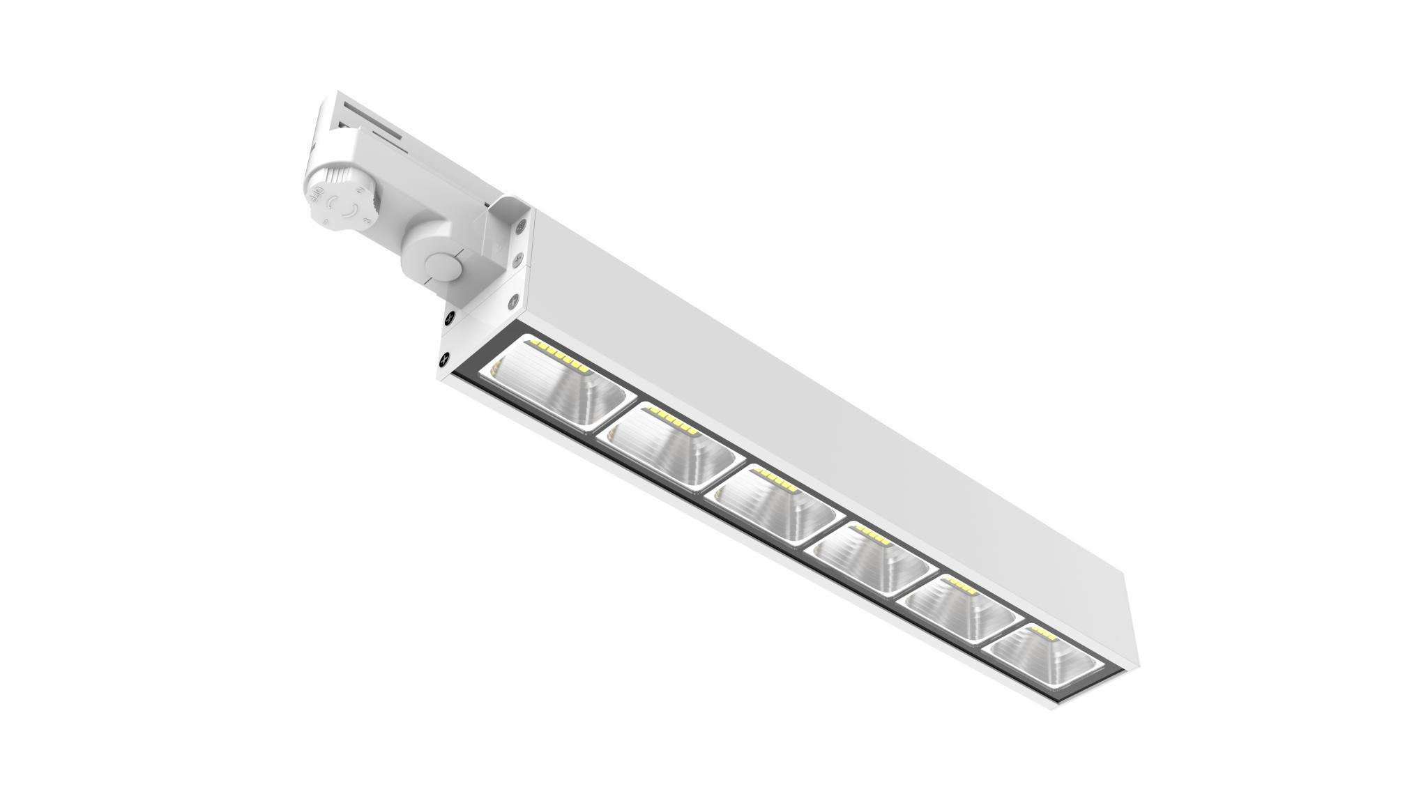Dali dimming Linear LED Track Light 40w 130lm/w 3 Circuits 2