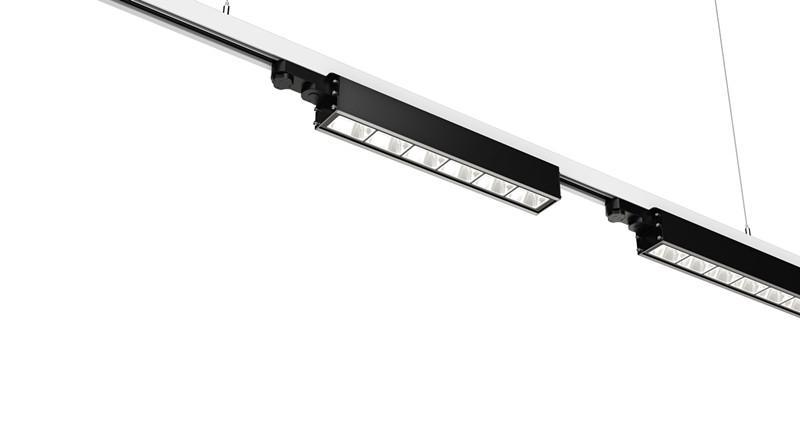 Dali dimming Linear LED Track Light 40w 130lm/w 3 Circuits 4