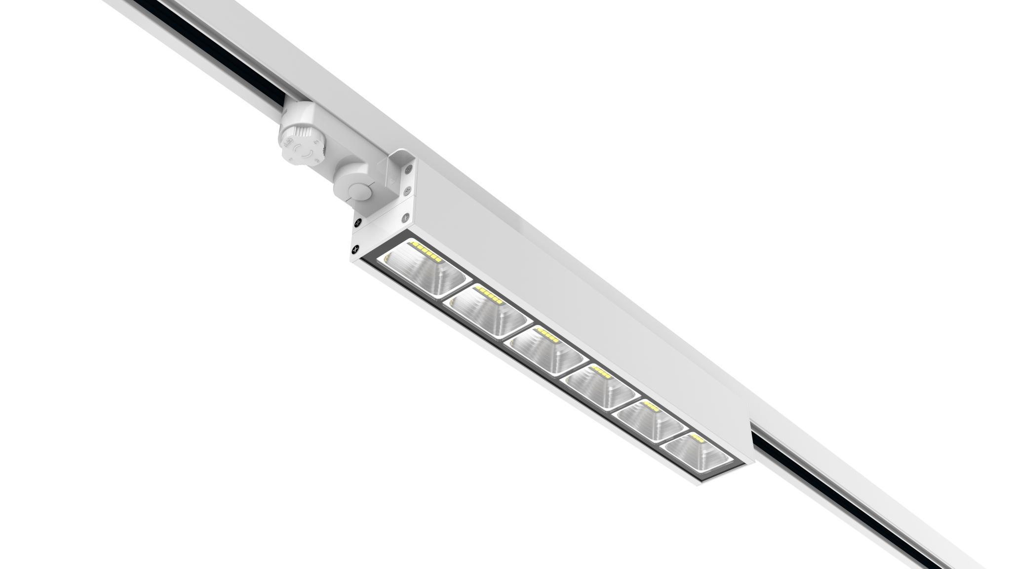 Dali dimming Linear LED Track Light 40w 130lm/w 3 Circuits 5