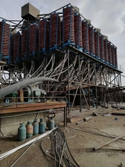 Gravity China chute ore spiral concentrator for mining coal ore concentration