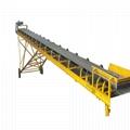 High capacity Sand Gravel Mobile corrugated Belt Conveyor with Hopper