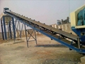 High capacity Sand Gravel Mobile corrugated Belt Conveyor with Hopper 3