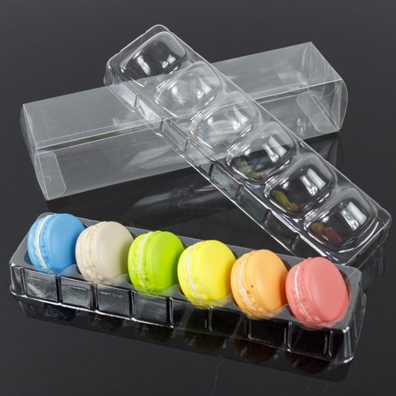 ustomized Clear Plastic Macaron Blister clamshell Packaging Tray with lid 4