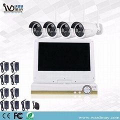 "CCTV 4chs 2.0MP Wireless Surveillance WiFi NVR Kits with 10.1"" LCD Screen"