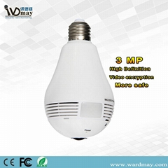Wdm Security 360 Panoramic Camera 3.0MP Smart Home WiFi Lighting Bulb IP Camera