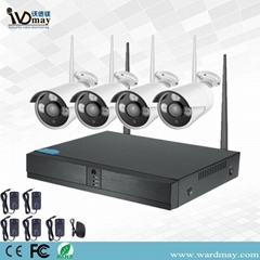 Wdm CCTV 4chs 2.0MP Home Security Surveillance IP Camera WiFi NVR Alarm Kits