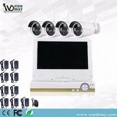 CCTV 4chs 1.3MP Wireless