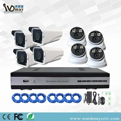 8chs H. 265 1080P Full Color in Day & Night Poe IP Camera Systems