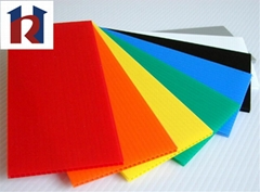 High quality separated or protected corrugated pp sheet flute plastic board