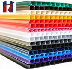 2mm-10mm corrugated PP sheet flute board plastic board manufacturer
