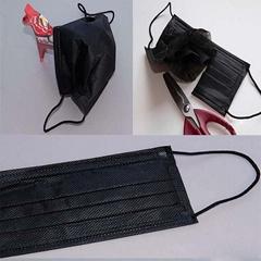 全黑色活性炭口罩