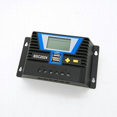 10A20A太陽能充放電控制器帶背光12V24V鉛酸和鋰電池通用