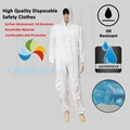 Disposable Waterproof Oil-Resistant Protective Coverall For Spary Painting Decor