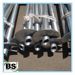 hot dipped galvanized ground screw pile for greenhouse
