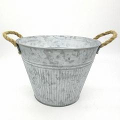 Surface matte finish iron flower pot gardening pot