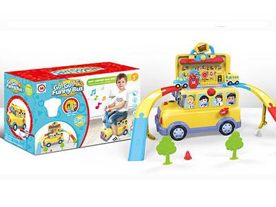 Funny Bus Track Toy Set with Light and Music for Kids 1