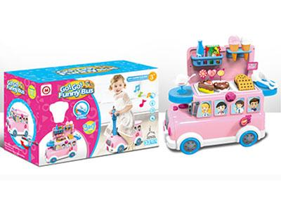 Funny Bus Dessert Toy Set with Light and Music for Kids 1